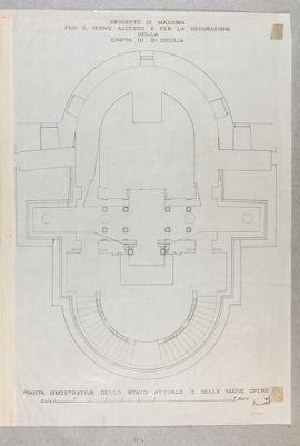 Chiesa di S. Cecilia, pianta della cripta