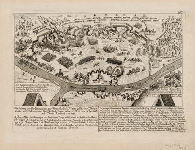 Vorstellung der Verschanzungen der Franzosen beÿ Mainz jenseits des Rheins welche d. 29 Oct. 1795 von den kaiserl. Armee unter F.M.G. von Clairfait mit Sturm erobert worden... : [estampe]