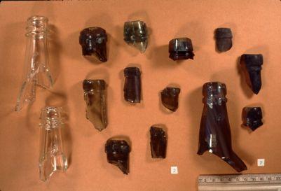 Donner Pass. Bottles, 1865-1868