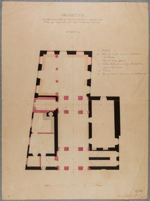 Palazzo della Sapienza. Dipendenze dalla Università, Villa già Gabrielli poi Museo Agrario, pianta