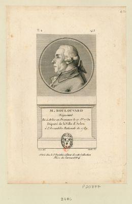 M. Boulouvard négociant né à Arles en Provence le 17 j.er 1732 député de la ville d'Arles à l'Assemblée nationale de 1789 : [estampe]