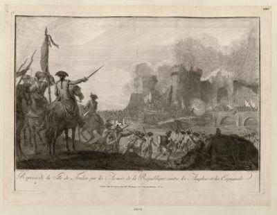 Reprise de la ville de Toulon par les armées de la République contre les Anglais et les Espagnols [estampe]