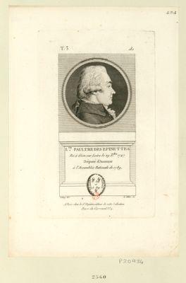 L.uis Paultre des Epinettes né à Gien sur Loire le 29 X.bre 1747 député d'Auxonne à l'Assemblée nationale de 1789 : [estampe]