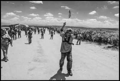 Farm workers show support for the United Farm Workers at Klein Management Company