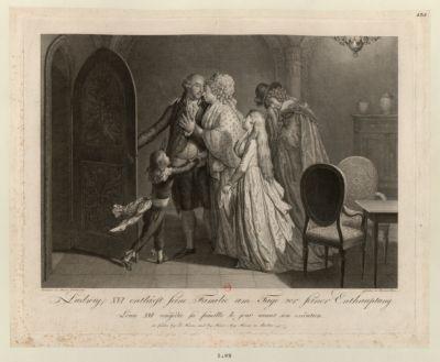 Ludwig XVI entlässt Seine Familie am Tage von Seiner Enthauptung [estampe]