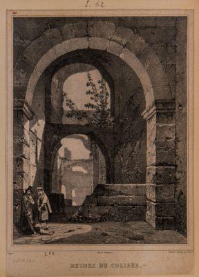 Colosseo, interno. Particolari di arcate