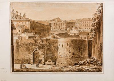 Porta Cavallegieri in Roma, esterno