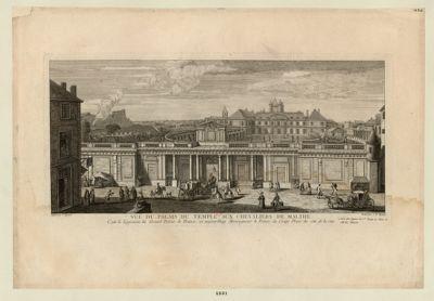 Vuë du Palais du Temple aux chevaliers de Malthe c'est le logement du grand prieur de France : [estampe]
