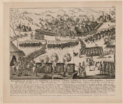 Représentation juste des lignes entre Veissenbourg et Lauterbourg qui ont été franchies par les alliés le 13 Obr. 1793 [estampe]
