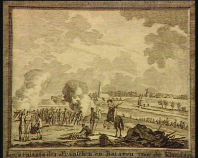 Legerplaats des Franschen en Bataven voor de Klundert [estampe]
