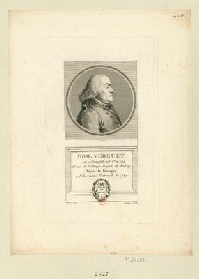 Dom Verguet né à Champtille en F. C.té en 1744 prieur de l'Abbaye royale de Relecq. Député de Bretagne à l'Assemblée nationale de 1789 : [estampe]
