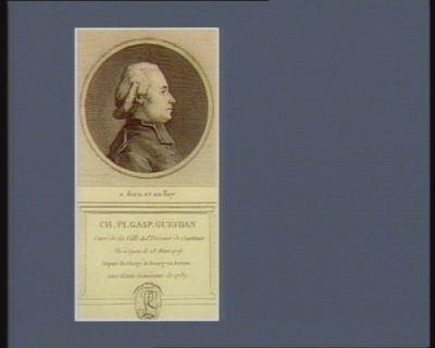 Ch. Pl. Gasp. Gueidan curé de la ville de St Trivier de Courtoux né à Lyon le 23 mars 1757 député du clergé de Bourg-en-Bresse aux Etats généraux de 1789. .. : [estampe]