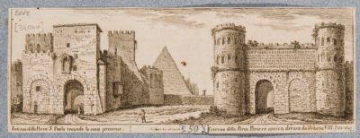 Piramide di Caio Cestio, Porta Ostiense e Porta Portese, veduta generale