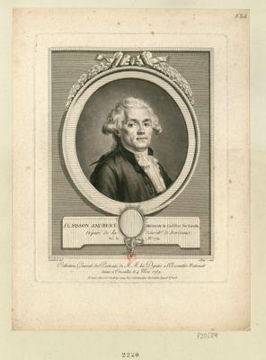 J.n L.s Fisson Jaubert, médecin de Cadillac, sur Garon[n]e député de la sénéch.ée de Bordeaux, né le 7 X.bre 1752 : [estampe]