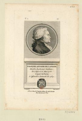 François Antoine de Landine membre de plusieurs académies. Né à Lyon le 6 mars 1756 député du Forez à l'Assemblée nationale de 1789 : [estampe]