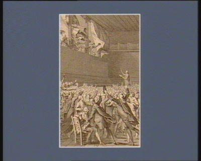 Eid der Volksrepraesententen im Ballhause den 20.ten Junius 1789 : [estampe]