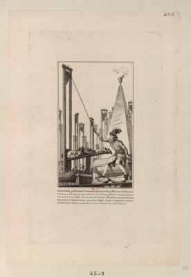 Robespierre guillotinant le boureau après avoir fait guillot.r. tous les Français cy gyt toute la France : [estampe]