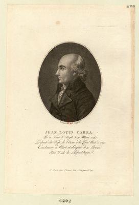 Jean Louis Carra né à Pont de Veyle le 11 mars 1742. Député du dép.t de l'Orne à la Conv.on nat.le... : [estampe]