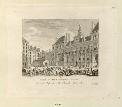 Angriff auf das Gemeindehaus von Paris den 27ten July 1794... : [estampe]