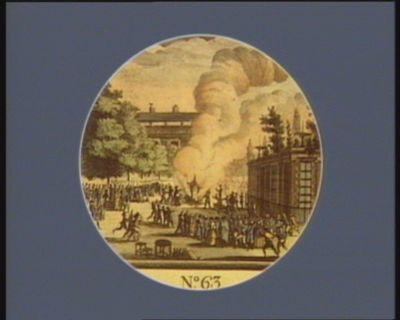 N.o 63 6 <em>avril</em> [i.e. 4 mai]. Mannequin <em>du</em> <em>Pape</em> brulé au jardin de <em>la</em> Revolution... : [estampe]