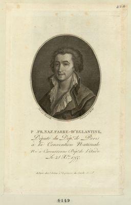 P. Fr. Naz. Fabre d'Eglantine député du dép.t de Paris à la Convention nationale, né à Carcassonne dép.t de l'Aude le 28 X.bre 1755 : [estampe]
