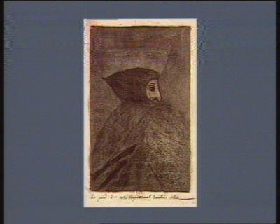 [Profil d'homme, la tête couverte d'un capuchon] [estampe]