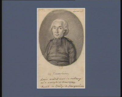 Louis Verdet curé de Vintrange né a Nancy le 25 mars 1744. deputé du bailage de Sarguemine[s] : 24 exemplaires : [dessin]