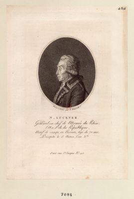 N. Luckner Général en chef de l'Armée du Rhin, l'An 1.er de la République, Natif de camps, en Bavière, ... : [estampe]