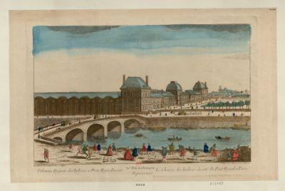 70.<em>e</em> Vue d'Optique Représentant Le Chateau des Tuileries du côté du Pont Royal a Paris [estampe]