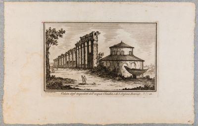 Veduta degli acquedotti dell'Acqua Claudia e di S. Stefano Rotondo