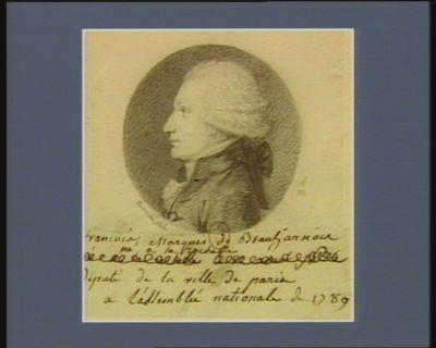 François marquis de Beauharnais né à la Rochelle, député de la ville de Paris à l'Assemblée nationale de 1789 : [dessin]