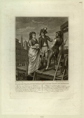 M. Anne Charlotte Corday Was born at S.t Saturnin se [sic] was Guillotined... : [estampe]