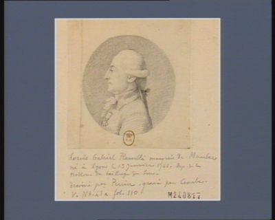 Louis Gabriel Planelli marquis de Mambec né à Lyon le 19 janvier 1744 député de la noblesse du bailliage de Sens : [dessin]