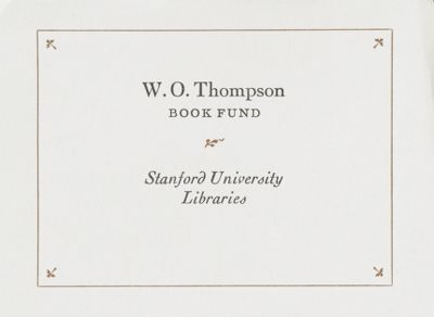 W. O. Thompson Book Fund