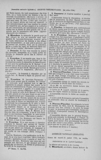 Tome 47 : Du 21 juillet au 10 août 1792 - page 97