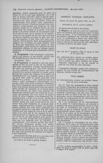 Tome 47 : Du 21 juillet au 10 août 1792 - page 112