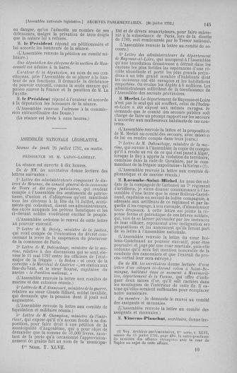 Tome 47 : Du 21 juillet au 10 août 1792 - page 145
