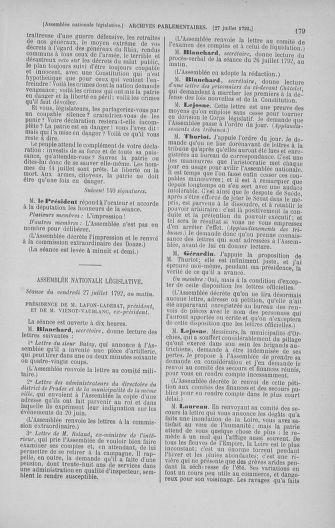 Tome 47 : Du 21 juillet au 10 août 1792 - page 179
