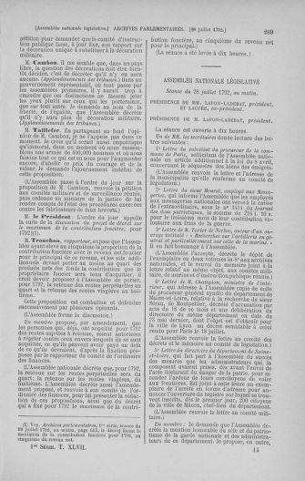 Tome 47 : Du 21 juillet au 10 août 1792 - page 209