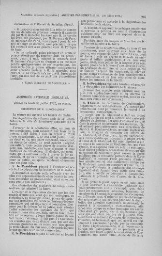 Tome 47 : Du 21 juillet au 10 août 1792 - page 269