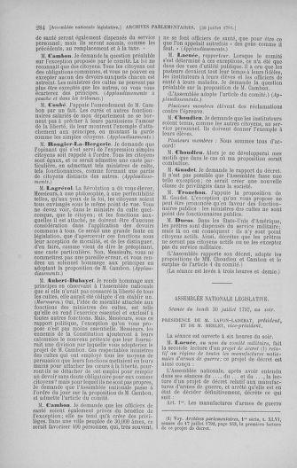 Tome 47 : Du 21 juillet au 10 août 1792 - page 284