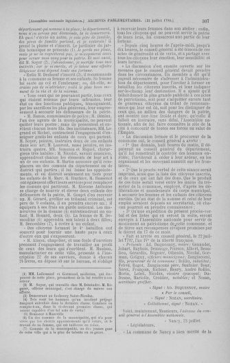 Tome 47 : Du 21 juillet au 10 août 1792 - page 307