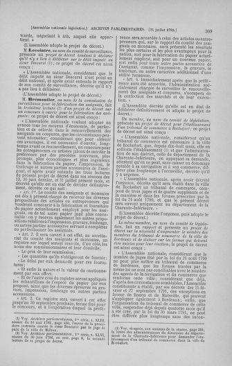 Tome 47 : Du 21 juillet au 10 août 1792 - page 309
