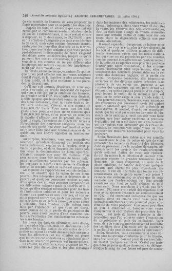 Tome 47 : Du 21 juillet au 10 août 1792 - page 312