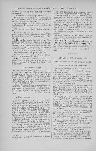 Tome 47 : Du 21 juillet au 10 août 1792 - page 332