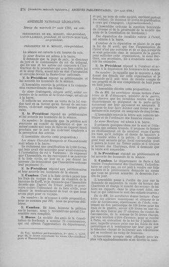 Tome 47 : Du 21 juillet au 10 août 1792 - page 374