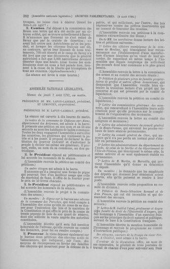 Tome 47 : Du 21 juillet au 10 août 1792 - page 382