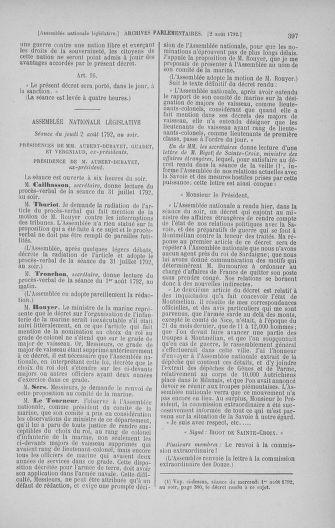 Tome 47 : Du 21 juillet au 10 août 1792 - page 397