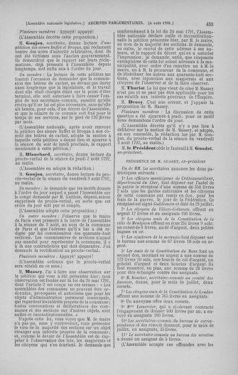 Tome 47 : Du 21 juillet au 10 août 1792 - page 453