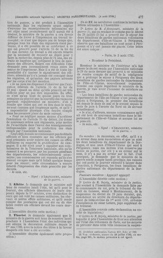 Tome 47 : Du 21 juillet au 10 août 1792 - page 477